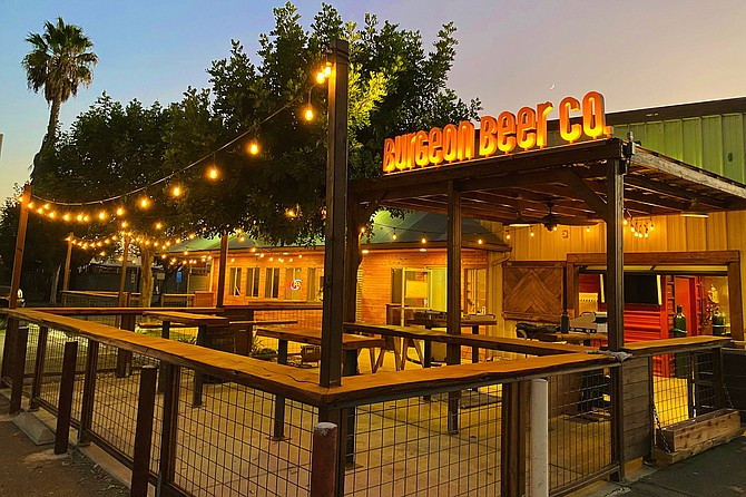 Burgeon Beer Company added an outdoor drinking location: the former site of Escondido Brewing Company, now dubbed The Oasis.