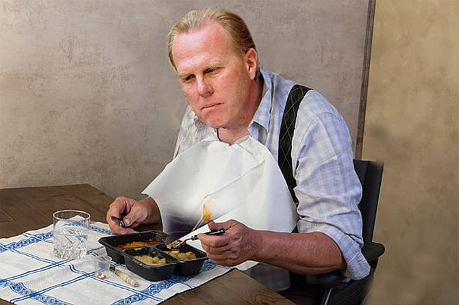 """Mayor Faulconer, giving thanks for the craven stupidity of so many California Democrats. """"My wife actually picked up that Provencal placemat at Cost Plus World Market,"""" he recounted. """"I got gravy on it and had to wash it after dinner, so I guess you could say i had my own little French Laundry experience. Ha, ha, that's a joke."""""""