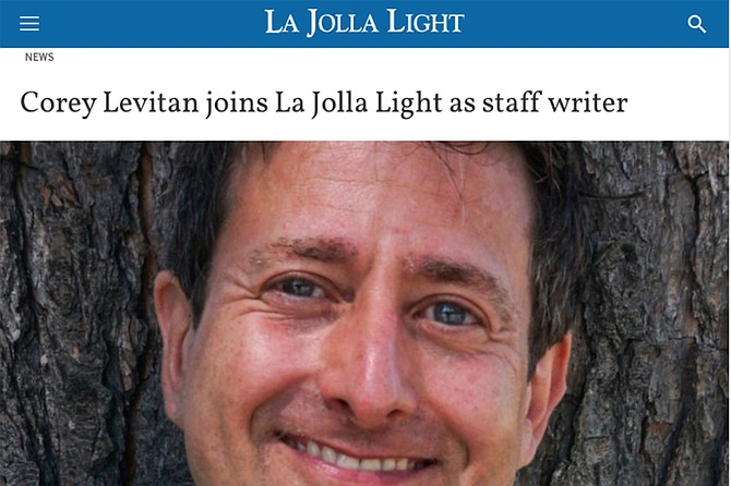 Former La Jolla Light reporter Corey Levitan was put on the public payroll by councilwoman Barbara Bry when she was running for mayor earlier this year.