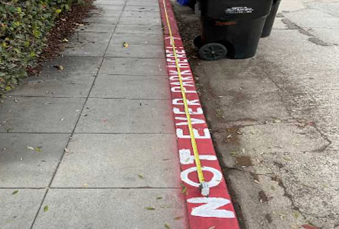 Offending La Jolla curb – from Get It Done app.