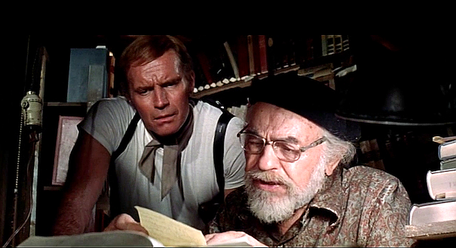 Who's your messiah now? Charlton Heston and Edward G. Robinson star in Soylent Green.