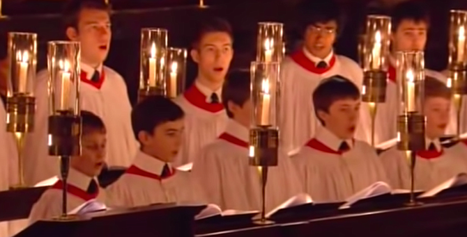 King's College singers. Is it that Christmas never delivers?