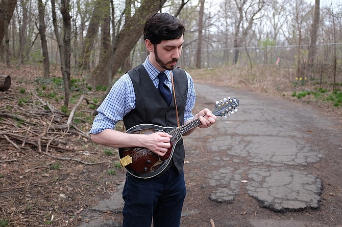 "Satin Nickel's Morgan Hollingsworth moved from musicals to the mandolin. ""Theater is all about storytelling, and songwriting is no different."""