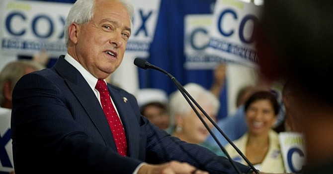 John Cox anted up $50,000 on October 9 for a committee called California Patriot Coalition.