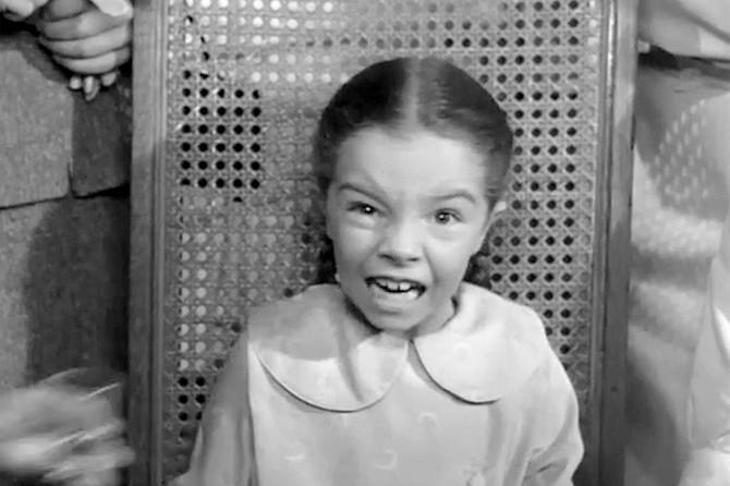 Them!: Sandy Descher shows the face of terror.
