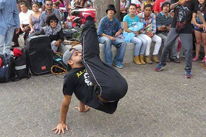 Tijuanense David González breakdancing in Costa Rica.
