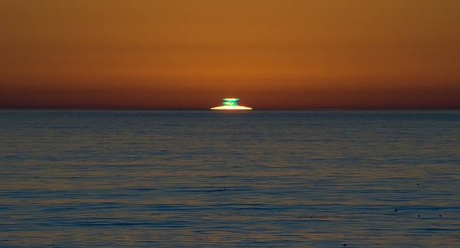 For sunset viewing, any site with a view of the ocean horizon suffices. - Image by Chris Mannerino