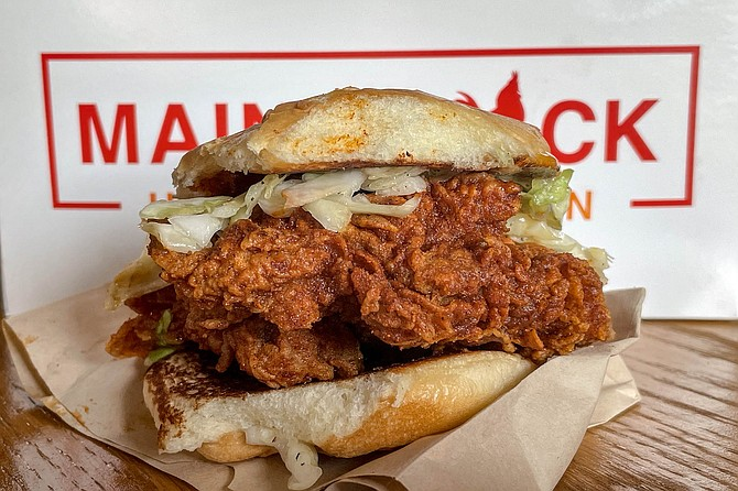 An all dark meat Nashville hot chicken sandwich