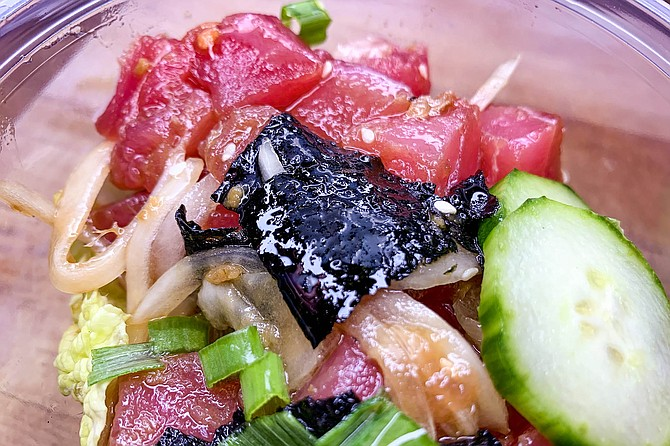 The best — or at least the most Hawaiian — poke in San Diego is made by Chris' Ono Grinds.