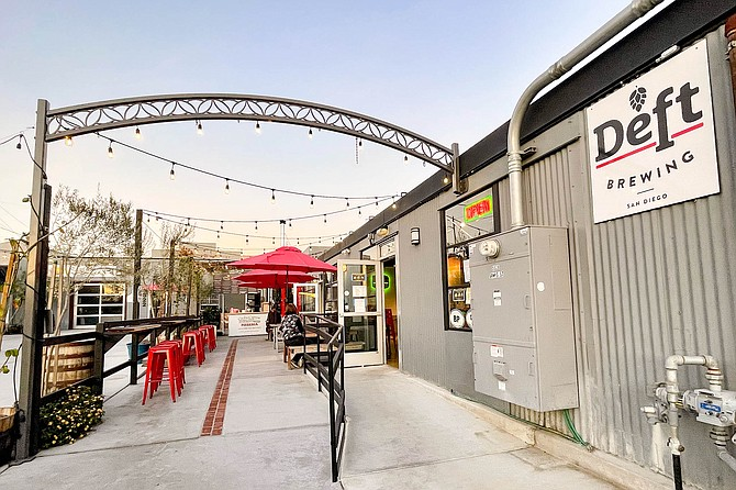 Deft Brewing shares a patio with Lost Cause Meadery, yet only one of the booze businesses must serve food with its drinks.