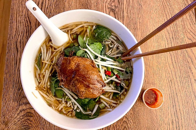 Roasted duck noodle soup from The Asian Bistro