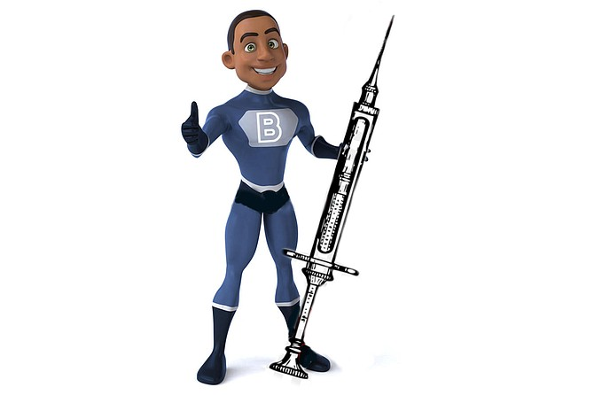 Bucky Black, The Blaccinator, and his trusty Hyper-Hypo. Coming soon to a neighborhood clinic near you!