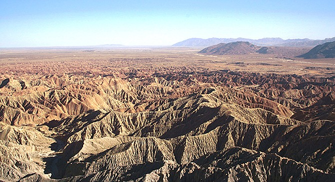 """Borrego Badlands. """"We feel the locations selected in Borrego Springs are not suitable for an industrial scale energy project."""" - Image by David Corby"""