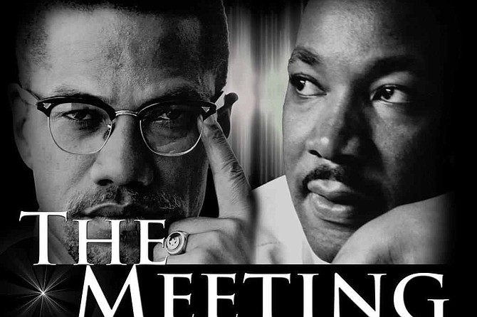 The Meeting depicts the supposed meeting of two of the most important men of modern times: Malcolm X and Dr. Martin Luther King, Jr.
