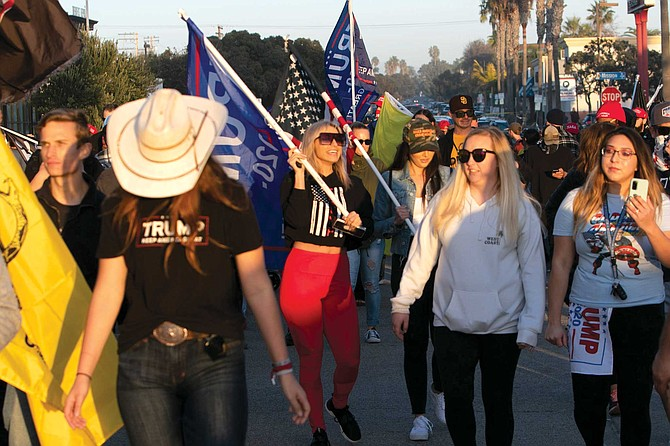 "Antifa was in town to thwart the ""Patriot March,"" a pro-Trump rally and concert on January 9."