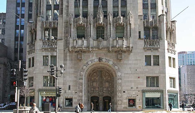 Chicago Tribune tower, North Michigan Ave.