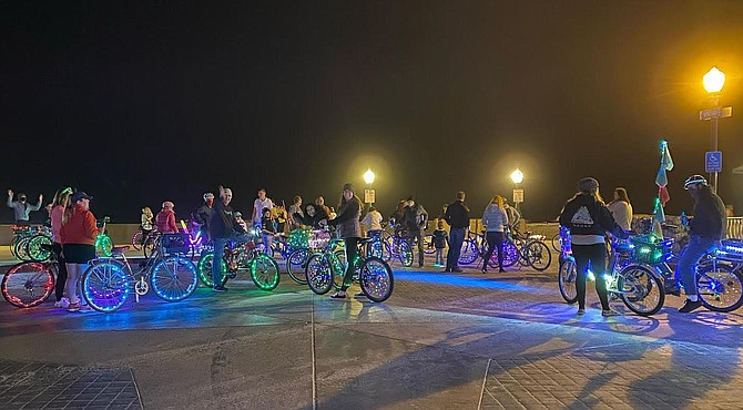 """Stacy from Sandieglow: """"If we approached a roundabout with a group of cyclists, we would treat it like we do traffic lights."""""""