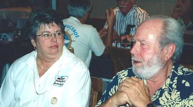 """Mary Ann and her husband, Oct. 2000. """"Mary Ann was left pretty much impoverished when her husband died a few years back."""""""