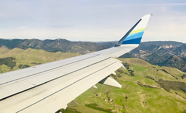 SLO country from the plane.
