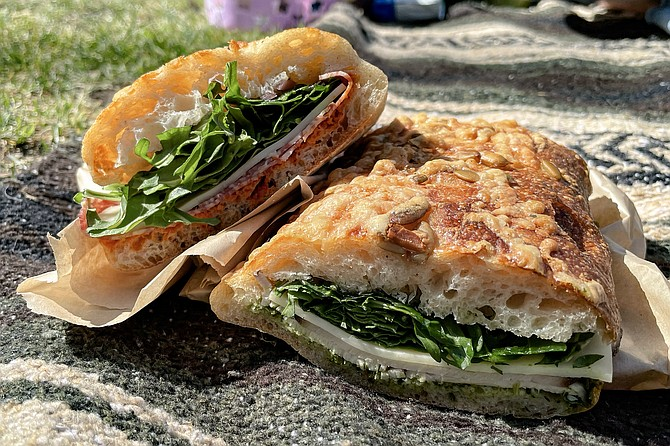 A pair of grab and go sandwiches from Prager Brothers Artisan Breads: perfect for a picnic