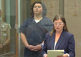 Arriola w his defense attorney Lindsay Itzhaki, at his arraignment in 2018.