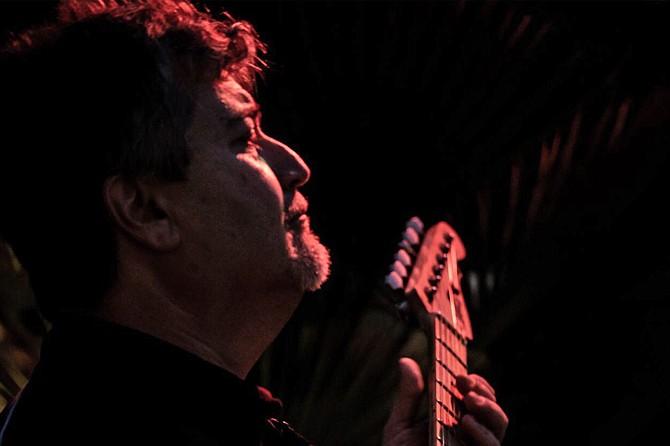 Claudio Martin, guitarist, publicity shot.