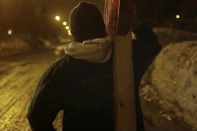 La Bronca: Jorge Guerra leads a one-man Via Crucis.