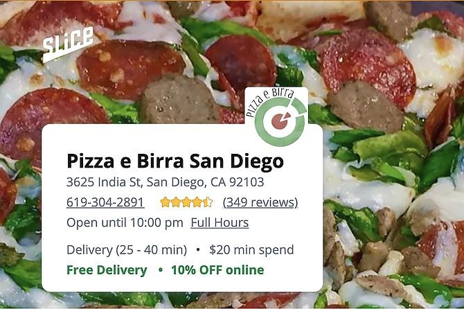Pizza e Birra page on SliceLife.com