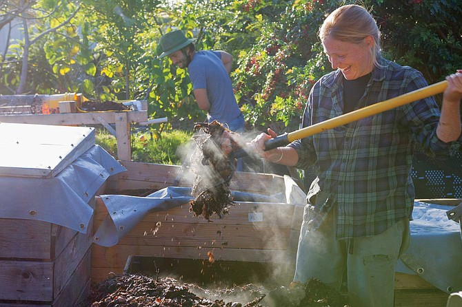 """Alyssa Brodsky learned how to """"cook"""" compost for maximum agricultural effect in Madagascar when she was in the Peace Corps. """"Where I grew up in Illinois, we always had a compost pile."""""""