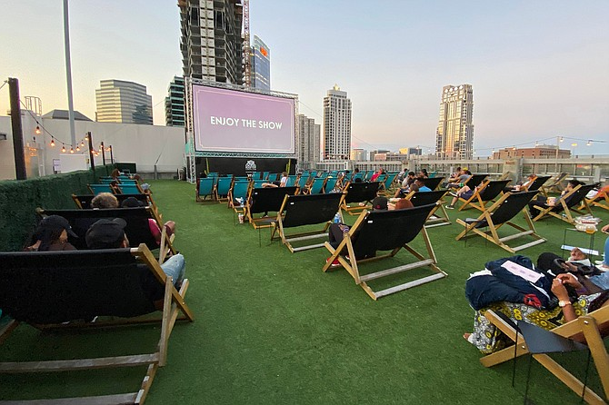 Situated on the 4th floor terrace of the Manchester Grand Hyatt San Diego, this location is an amazing spot to enjoy movies on a big screen under the stars.