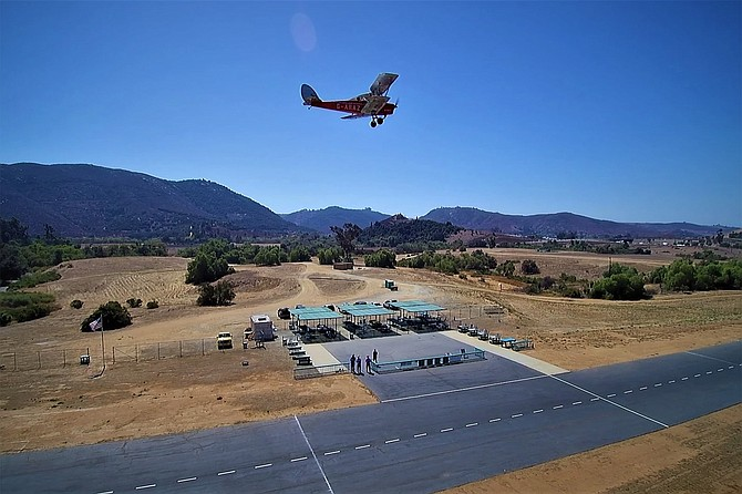 The Palomar Radio Control Flyers are hosting free flight lessons on Mondays, airplanes provided.
