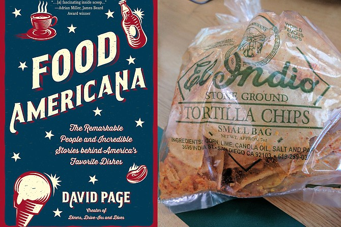 A history of American cuisine. Chips the way Page likes 'em — old tortillas cut up and fried.