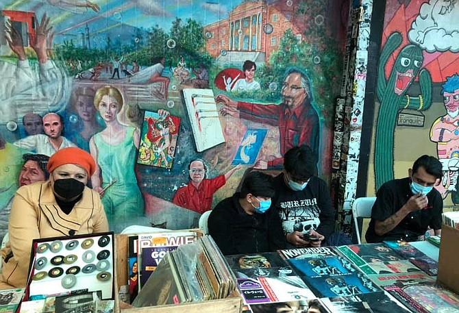 "Vinyl fair dealers. ""Tijuana is considered the rock capital of Mexico."""