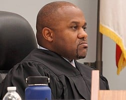 Hon. judge James Simmons Jr at a previous hearing, before COVID.