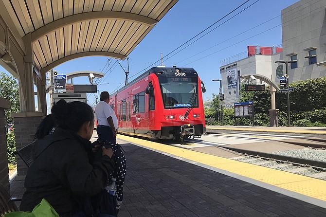 Senator Mills's beloved creation, the San Diego Trolley.