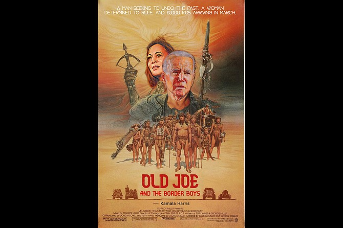 """Press release from Progressive Pictures: """"Old Joe and the Border Boys tells the thrilling story of 19,000 kids living in Central America who hear President Biden announce that he's going to stop deportations for the first 100 days of his Presidency and cease expelling unaccompanied minors. They then decide to set off on a thrilling quest to reach the United States, braving many hardships along the way. But when arrive at the border, they find that getting there was only half the battle. Trapped in a plastic pod world with no end in sight, the kids learn their fate has been placed in the hands of Queen Kamala, a mysterious figure who never seems to appear, but who once promised to champion their cause. Will they make it out of plastic pod world before succumbing to the plague that threatens them all? Will they find their way to the dreamed-of paradise of Dacaville? You'll have to watch it to find out!"""""""