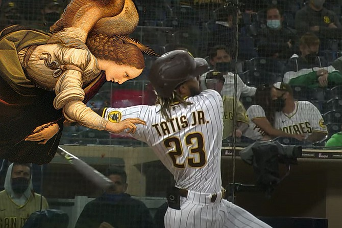 """Special """"God's-eye"""" cam footage shows angel touching the slugger's shoulder at precise moment of his labrum tear."""