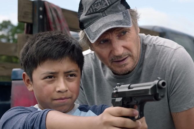 """The Marksman: Proving the old adage: """"Give Jacob Perez a gun, and he's safe for a scene. Have Liam Neeson teach him how to shoot, and it's a lifetime's worth of entertainment."""""""