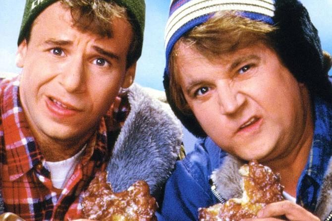 Strange Brew: Canuckleheads Bob (Rick Moranis) and Doug McKenzie (Dave Thomas).