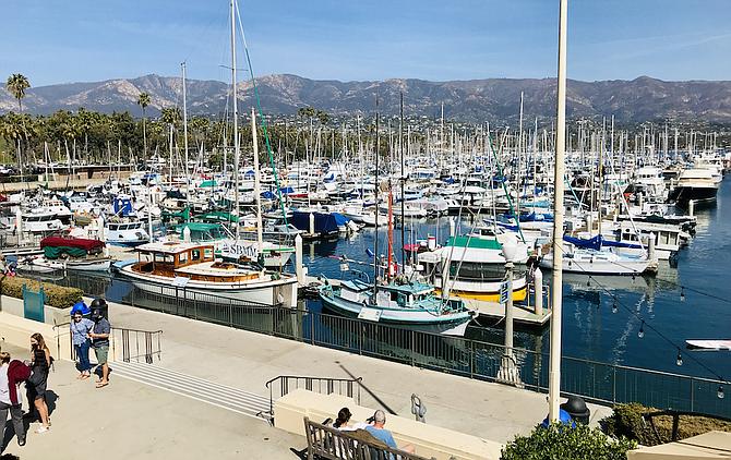 Santa Barbara Harbor from Paddle Sports Center. (Photo credit: Karen Chazanovsky)
