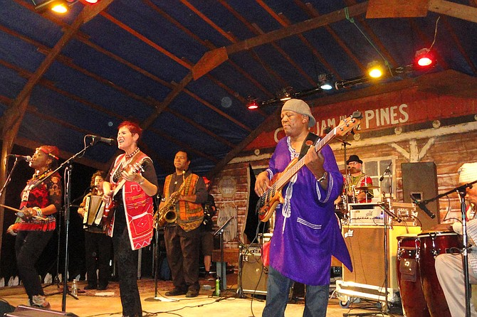 Sharon Katz & The Peace Train perform at Camp Jam in The Pines Festival.