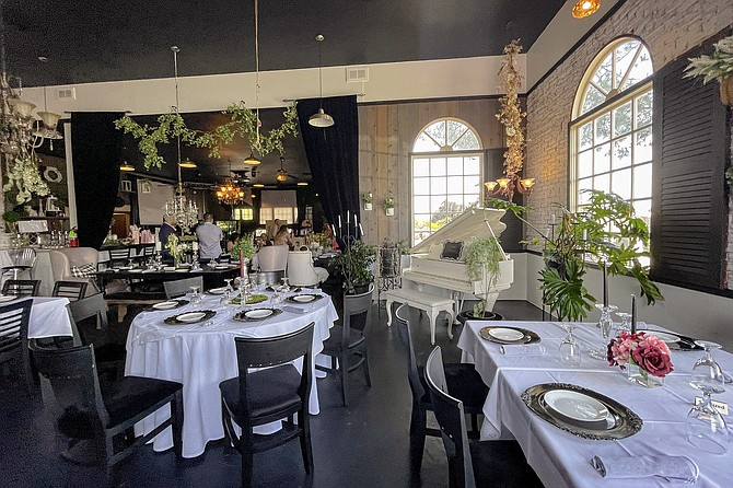 The dining room of still new Jamul restaurant, Chandelier Lounge Cuisine