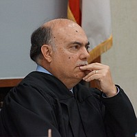 Hon. judge Carlos Armour said NO to reducing bail. Photo by Eva Knott.