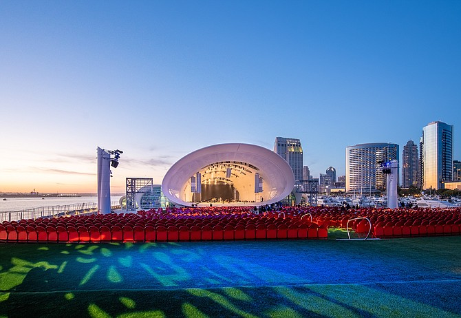 Rady Shell at Jacobs Park. The symphony has raised $98.7 million of $125 million. - Image by Jenna Selby