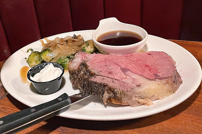 """A """"half cut"""" of prime rib, still served at Bully's East"""