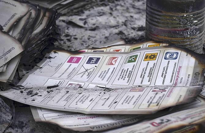 Burned ballots