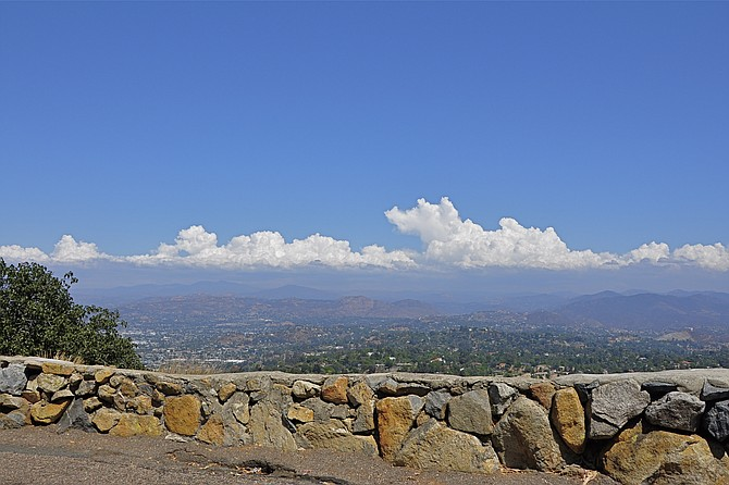 From Mt Helix looking east at thunderheads - Image by DGShots