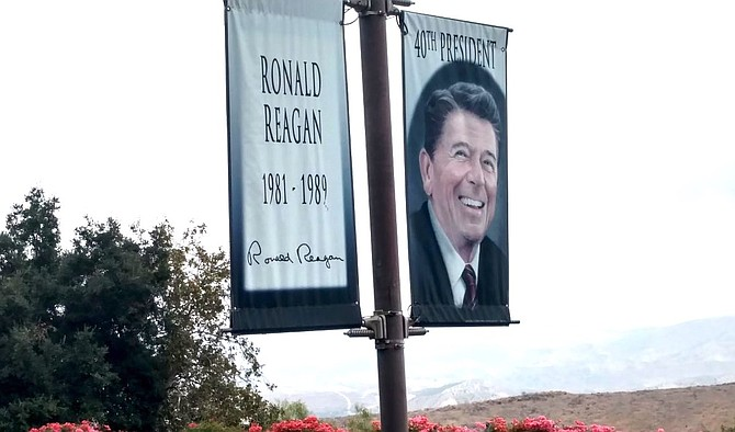 Outside Reagan library in Simi Valley