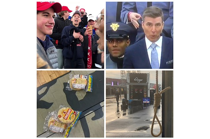 """Spot the racism! Is it in Covington Catholic High School student Nick Sandmann, who was accused of harassment when he himself was harassed? Or is it in those cadets attending the Army-Navy game, who played """"made you look"""" and got falsely accused of making white supremacist hand gestures? Or is it in this noose pull-down that was positioned in the Talladega Superspeedway long before Black NASCAR driver Bubba Wallace was assigned to that garage? Wait - it's not in any of those? Well then surely it's in these tortillas that were tossed following the Coronado-Orange Glen division championship game? Yes, surely. And even if it isn't, that's no reason not to get upset enough to fire someone."""