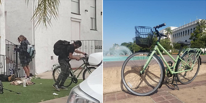 Jamis City bike on right; on left another photo posted by victim.